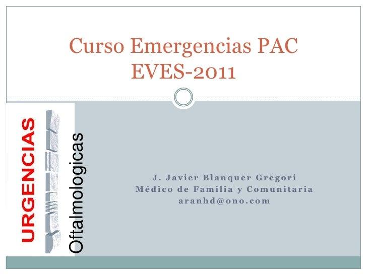 Urgencias PAC oftalmológicas
