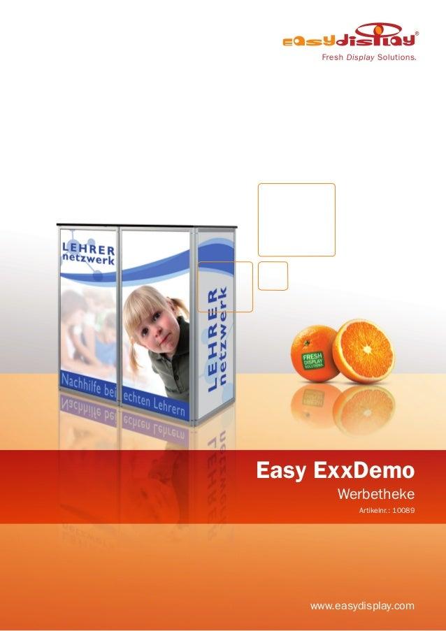 Easy ExxDemo Werbetheke Artikelnr.: 10089 www.easydisplay.com