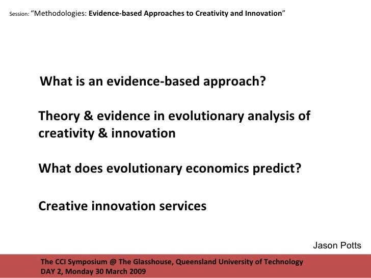 """The CCI Symposium @ The Glasshouse, Queensland University of Technology DAY 2, Monday 30 March 2009 Session:  """"Methodologi..."""