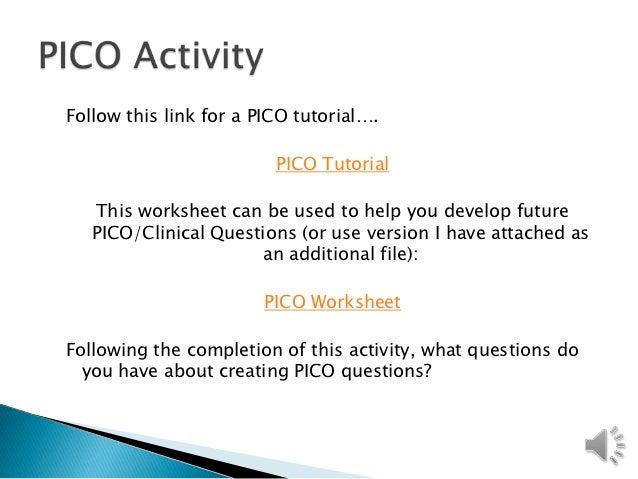 evidence based practice pico