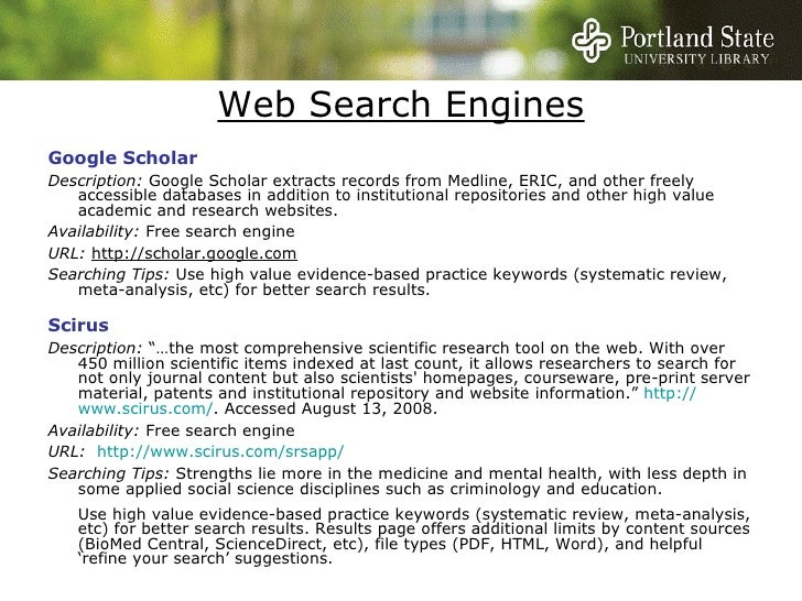 Social science search engine