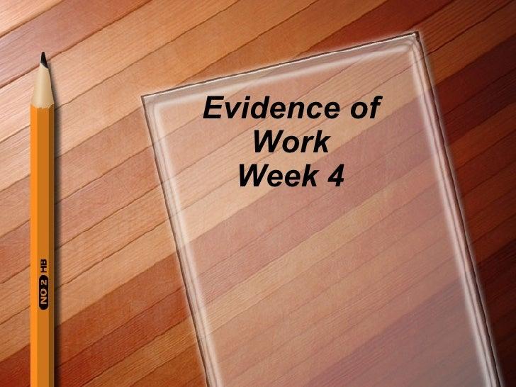 Evidence of Work Week 4