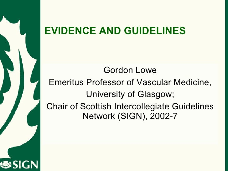 Evidence and guidelines COMEP