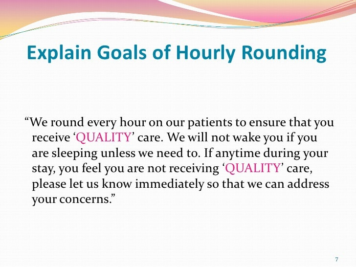 Hourly Rounding On Patients