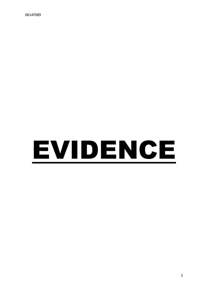 Evidence cw