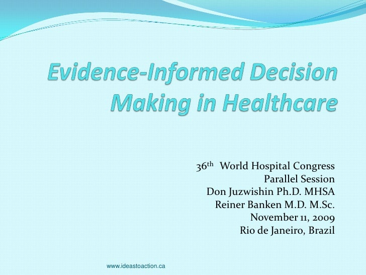 36th World Hospital Congress                                      Parallel Session                          Don Juzwishin ...