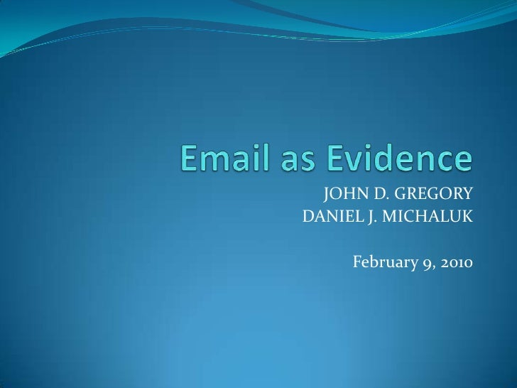 E-mail as Evdience