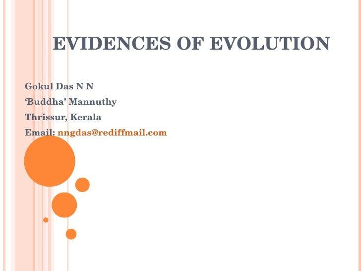 EVIDENCES OF EVOLUTION