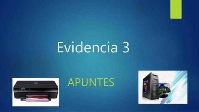 Evidencia 3 APUNTES