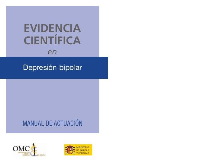 Evidencia cientifica en depresion bipolar
