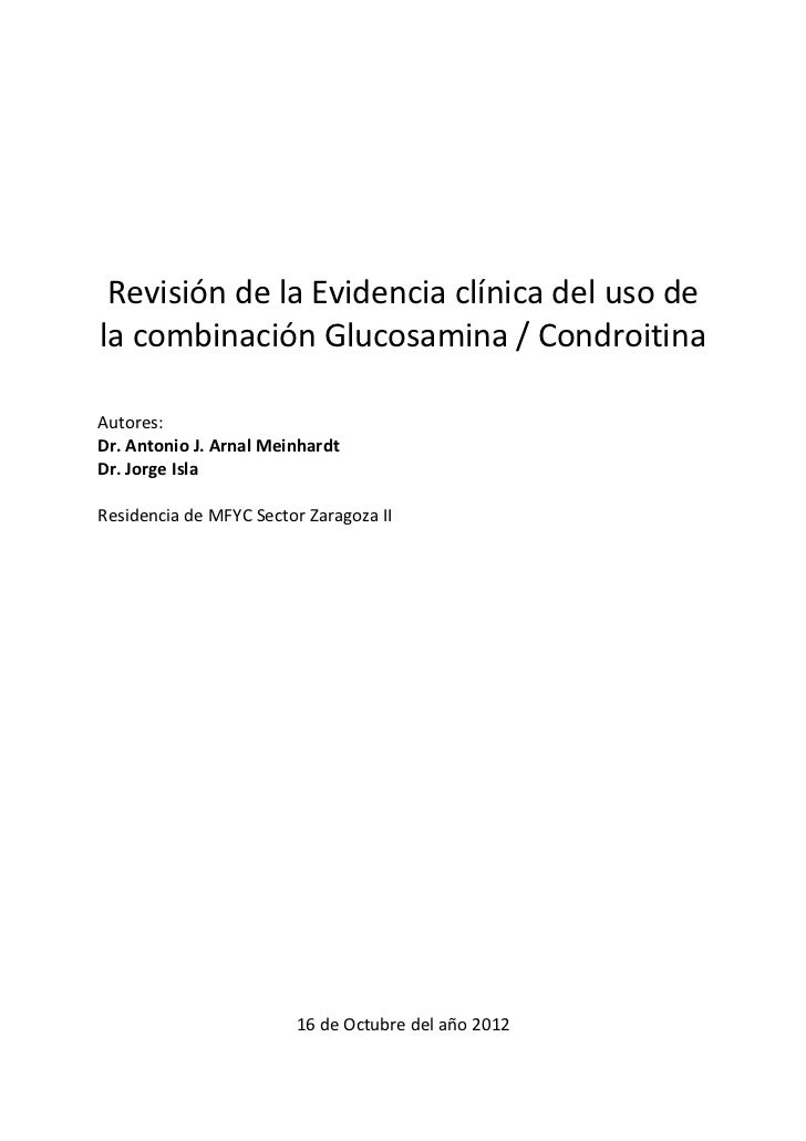 Evidencia clínica del uso de la combinación glucosamina condroitina