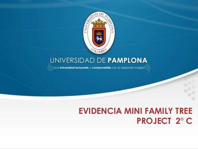 Evidencia mini family tree project