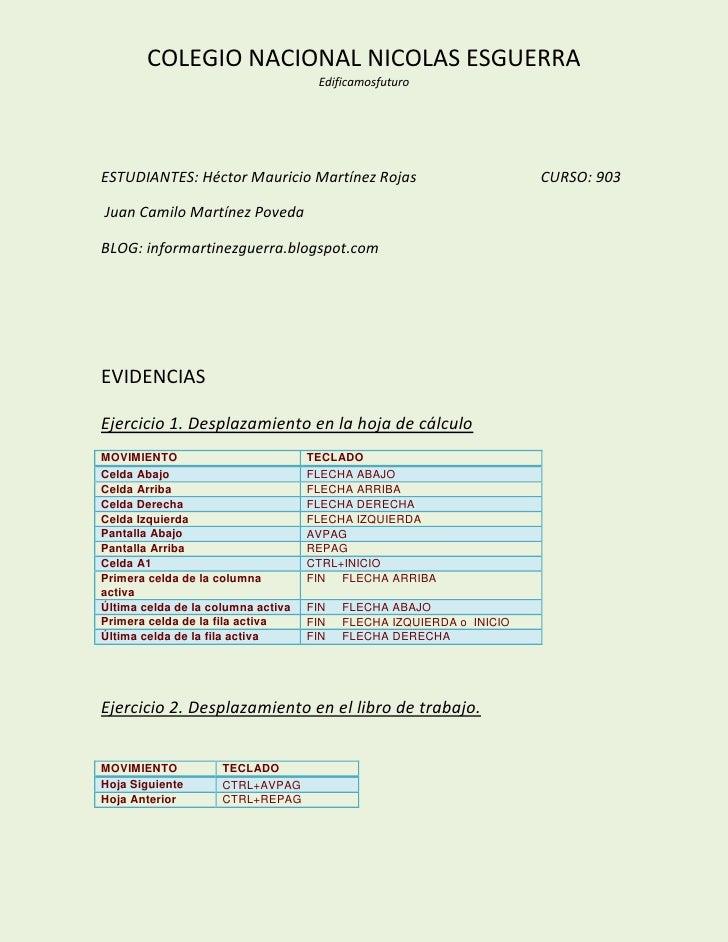 COLEGIO NACIONAL NICOLAS ESGUERRA                                     EdificamosfuturoESTUDIANTES: Héctor Mauricio Martíne...
