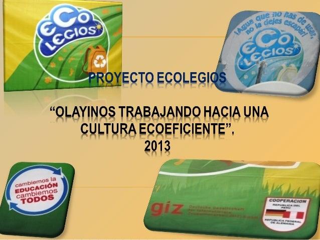 Evidencias de nuestro proyecto 2013