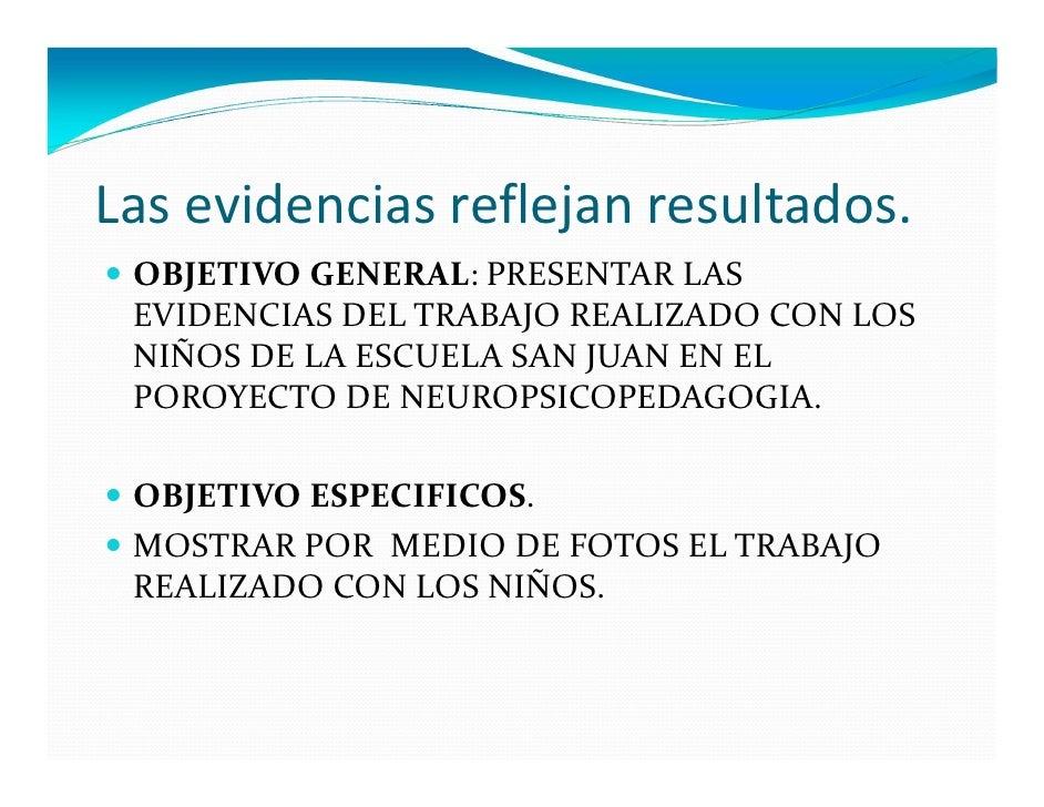 Las evidencias reflejan resultados. OBJETIVO GENERAL: PRESENTAR LAS EVIDENCIAS DEL TRABAJO REALIZADO CON LOS NIÑOS DE LA E...