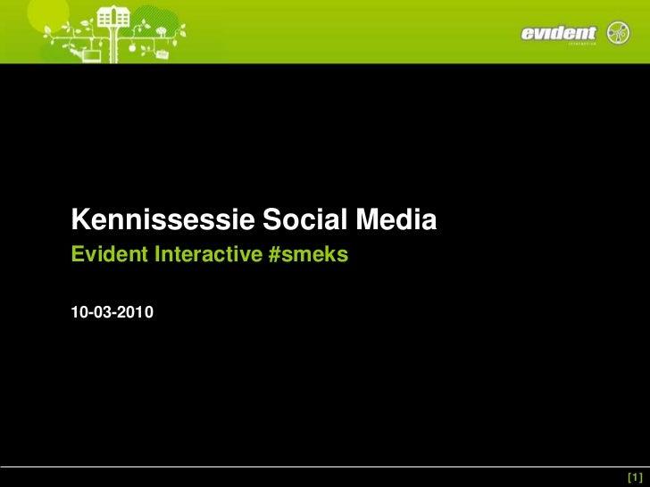 Evident kennissessie social_media_10-03-2010