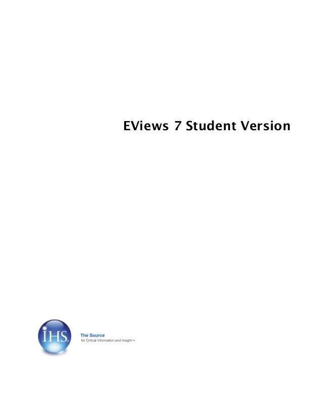 eviews 7 student version serial number