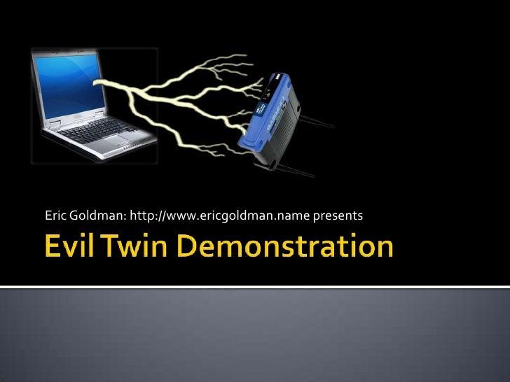Evil Twin Demonstration