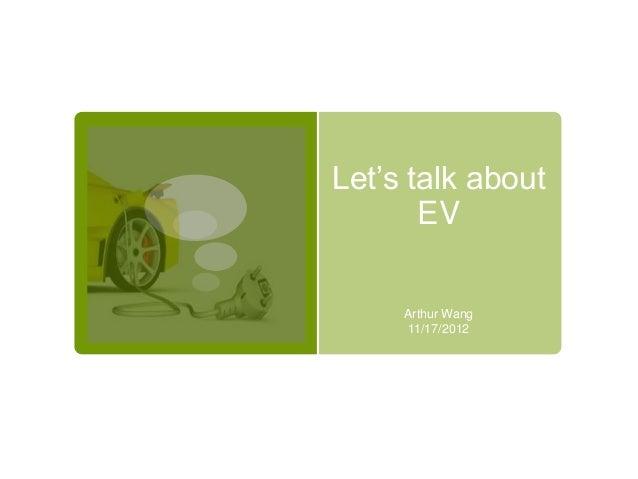 Let's talk about EV