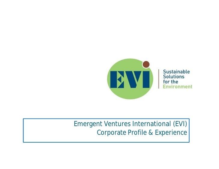 Emergent Ventures International (EVI)       Corporate Profile & Experience
