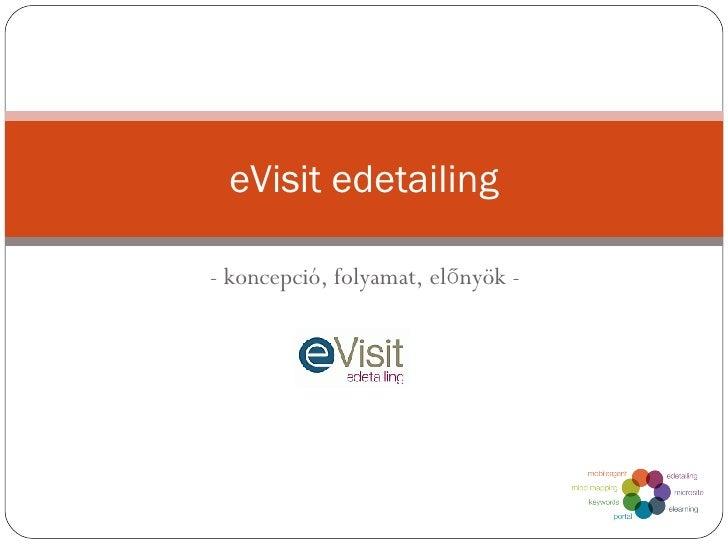 - koncepció, folyamat, előnyök - eVisit edetailing