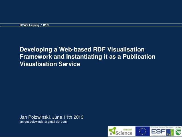 Developing a Web-based RDF Visualisation Framework and Instantiating it as a Publication Visualisation Service