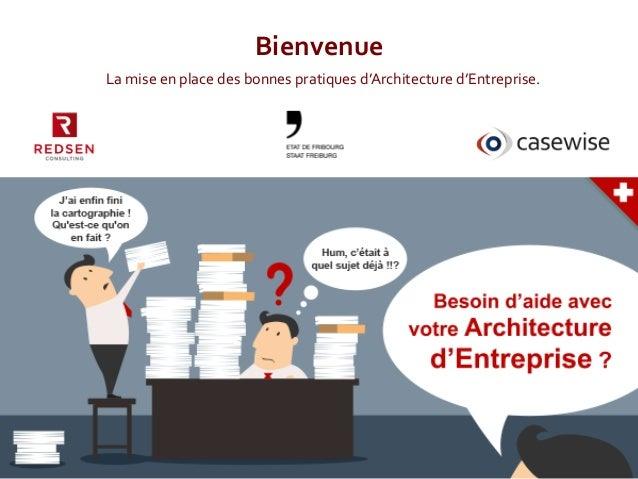 1   Bienvenue   La  mise  en  place  des  bonnes  pratiques  d'Architecture  d'Entreprise.