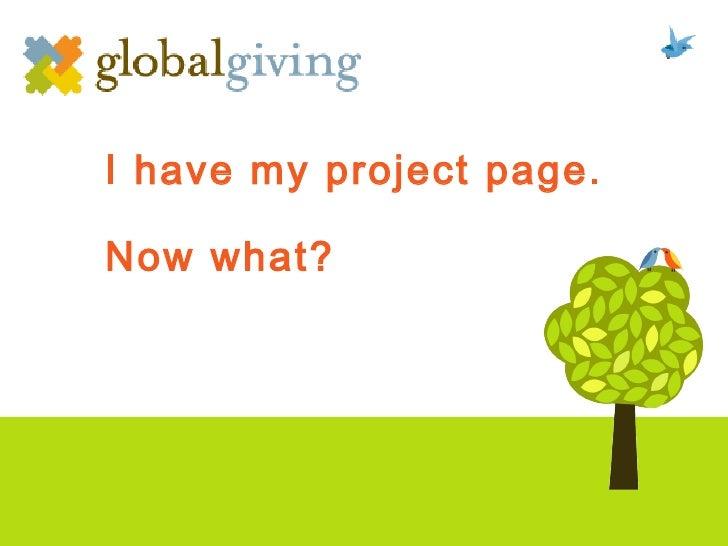 Crowdfunding - GlobalGiving Evoke Challenge
