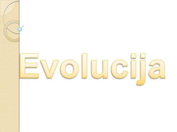 Evolucija<br />