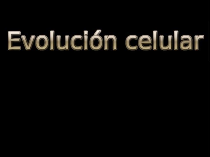 Evolucion Quimica y Celular Evolución Celular Origen de