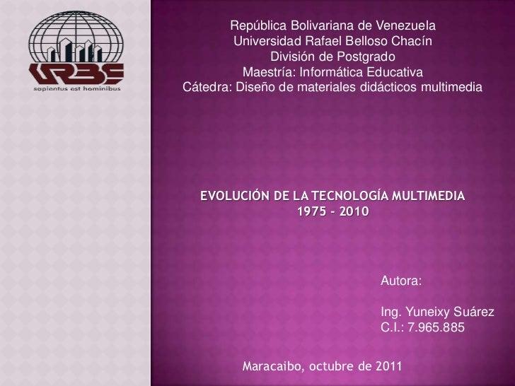 República Bolivariana de Venezuela        Universidad Rafael Belloso Chacín              División de Postgrado          Ma...