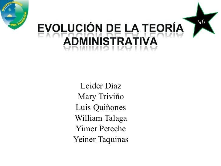 Leider Díaz Mary Triviño Luis Quiñones William Talaga Yimer Peteche Yeiner Taquinas VII
