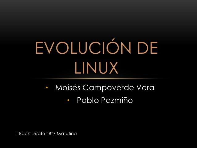 Evolución de linux