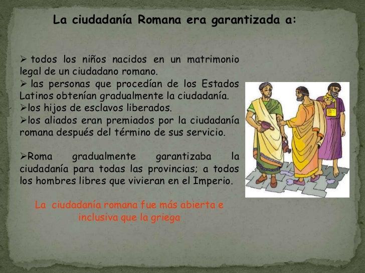 El Matrimonio Romano Evolucion Historica : Evolución histórica de la ciudadanía
