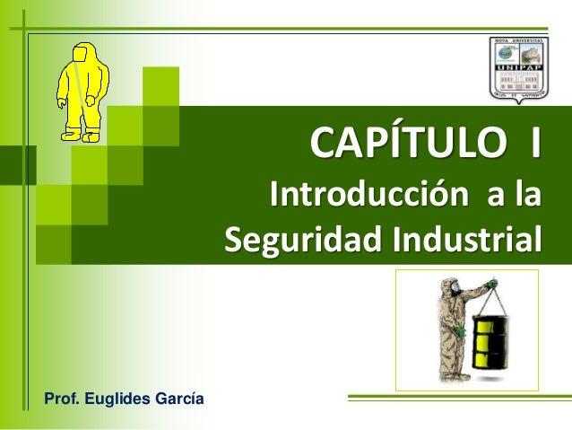 CAPÍTULO I Introducción a la Seguridad Industrial Prof. Euglides García