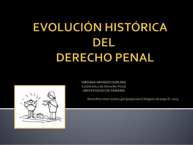 historia del derecho penal: