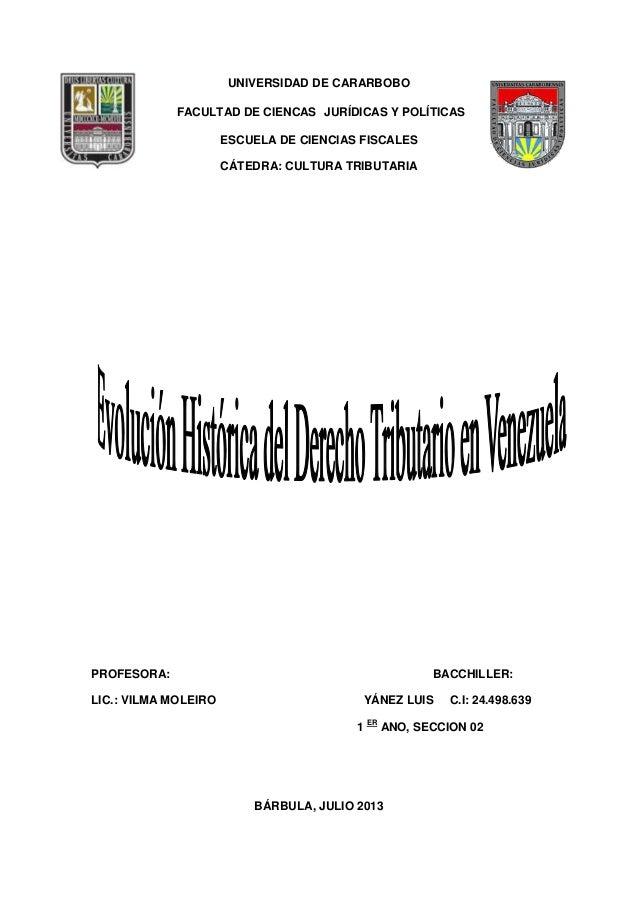 el derecho tributario en venezuela: