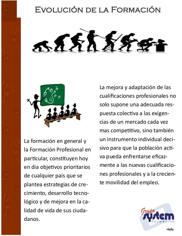 Evolución de la Formación ACTUALIDAD  Título del a rtículo principal  La formación en general y la Formación Profesional e...