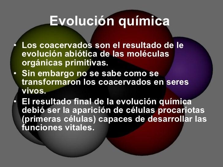 Evolucion Quimica Abiotica Evolución Química Los