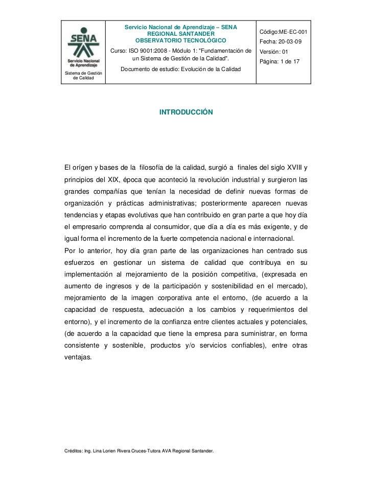 Servicio Nacional de Aprendizaje – SENA                                    REGIONAL SANTANDER                     Código:M...