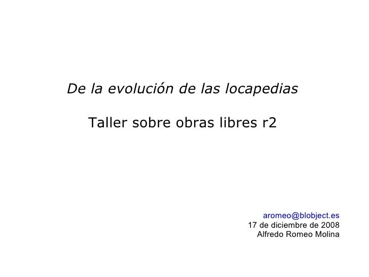 Evolucionando Locapedias