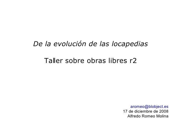 Evolucionando Locapedias