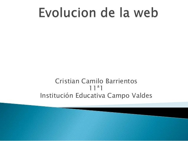 Cristian Camilo Barrientos 11ª1 Institución Educativa Campo Valdes