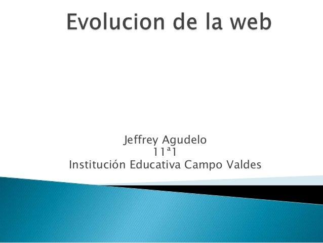 Jeffrey Agudelo 11ª1 Institución Educativa Campo Valdes