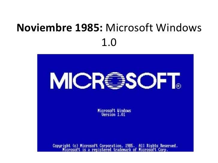 Noviembre 1985: Microsoft Windows 1.0 <br />