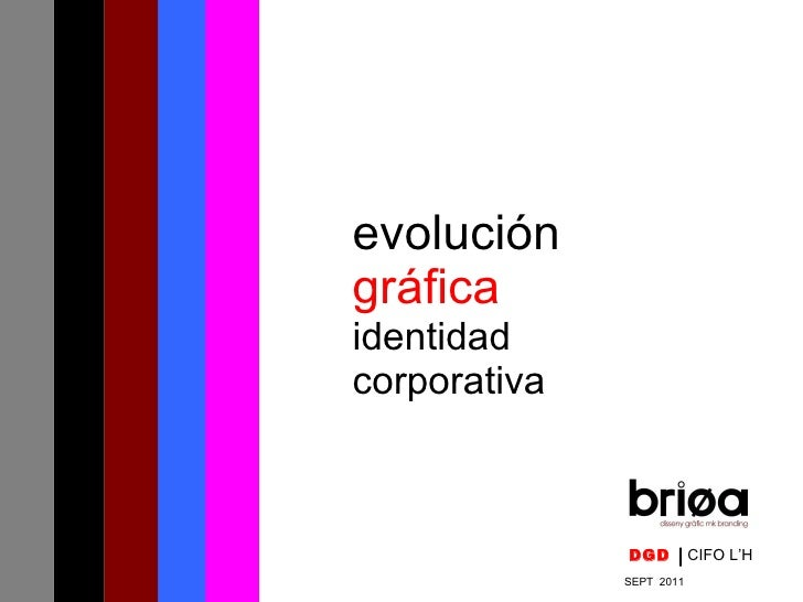 evolución gráfica   identidad  corporativa DGD   CIFO L'H SEPT  2011