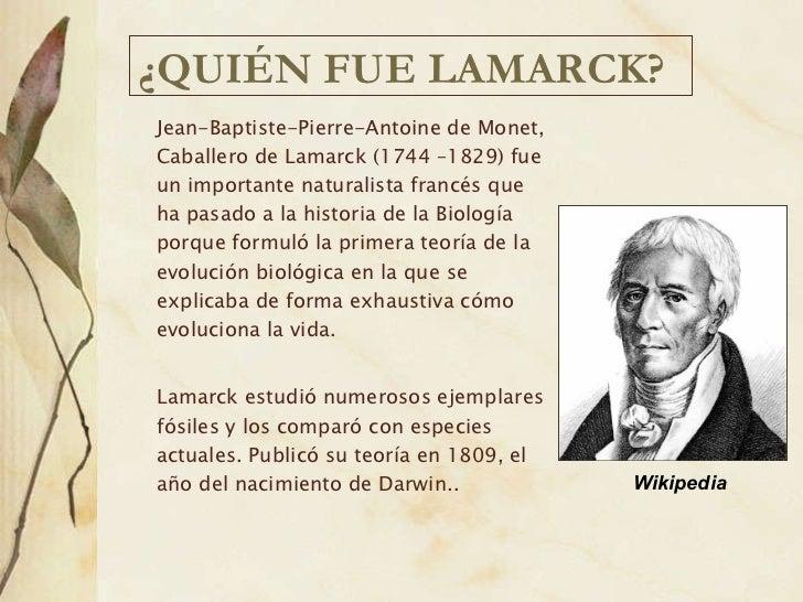 teor 237 a evolucionista de lamarck