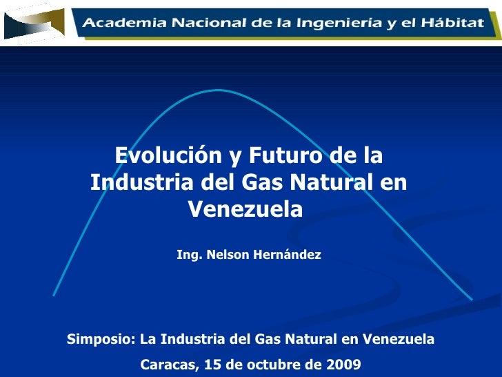 Simposio: La Industria del Gas Natural en Venezuela Caracas, 15 de octubre de 2009 Evolución y Futuro de la Industria del ...