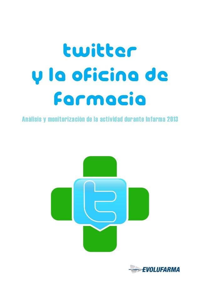 Twitter y la oficina de Farmacia Análisis y monitorización de la actividad durante Infarma 2013