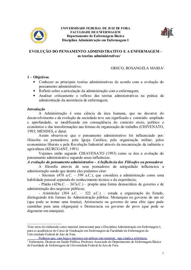 UNIVERSIDADE FEDERAL DE JUIZ DE FORA                              FACULDADE DE ENFERMAGEM                             Depa...